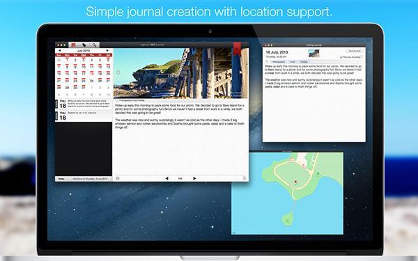 Günlük odaklı Mac uygulaması Capture 365 Journal, ücretsiz yapıldı