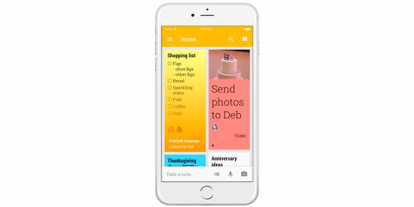 Google Keep not alma uygulaması iOS için indirmeye sunuldu