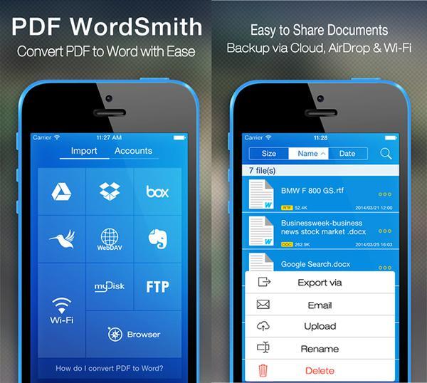 iOS için hazırlanan PDF çeviri uygulaması PDF WordSmith, artık ücretsiz