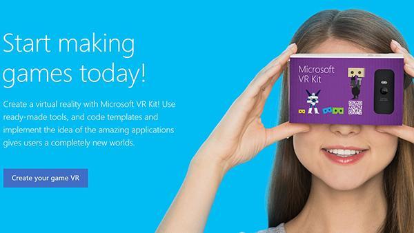 Microsoft'un 'Google Cardboard' benzeri sanal gerçeklik başlığı ortaya çıktı