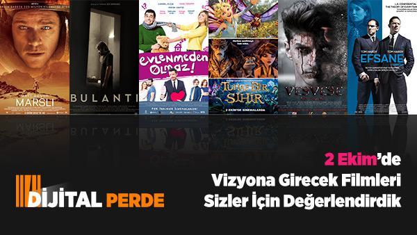 Dijital Perde 2 Ekim De Vizyona Girecek Olan Filmler
