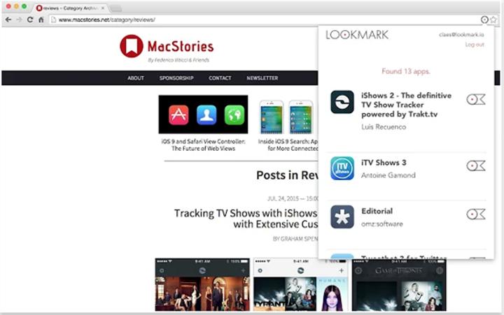 Uygulama toplamaya odaklanan Chrome eklentisi: Lookmark