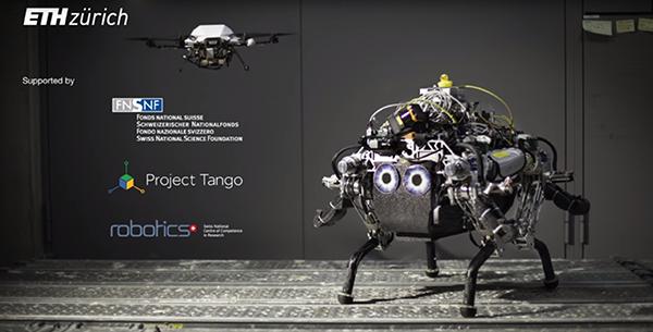 ETH Zurich'in dört ayaklı robotu, zorlu arazilerde drone'lardan yardım alıyor