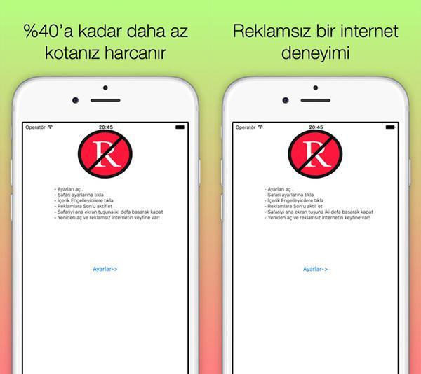 iOS için yerli geliştiriciden yeni reklam engelleme uygulaması: Reklamlara Son