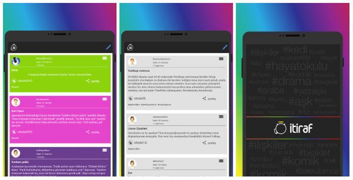 İtiraf.com platformu mobilde