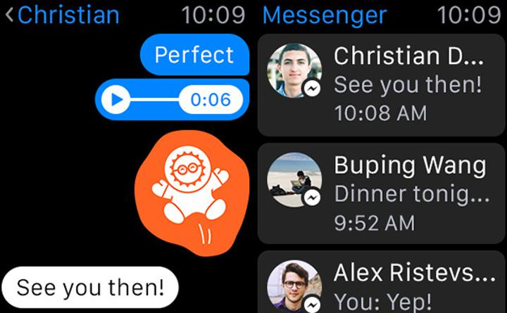 Facebook Messenger, watchOS 2 ve iOS 9 odağında güncellendi