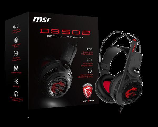MSI'nın oyunculara yönelik DS502 oyuncu kulaklığı satışa çıkıyor