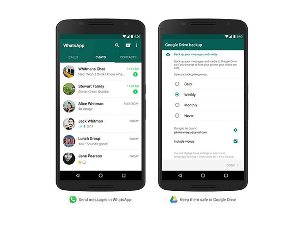 Android için WhatsApp'a 'Google Drive' temelli yedekleme desteği geldi