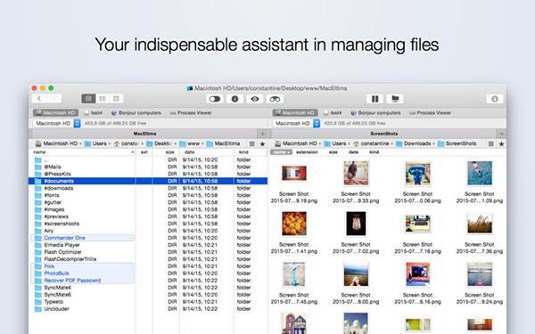 Mac platformu için dosya yönetim uygulaması: Commander One