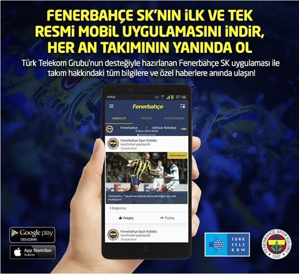 Fenerbahçe SK'nın resmi mobil uygulaması yayınlandı