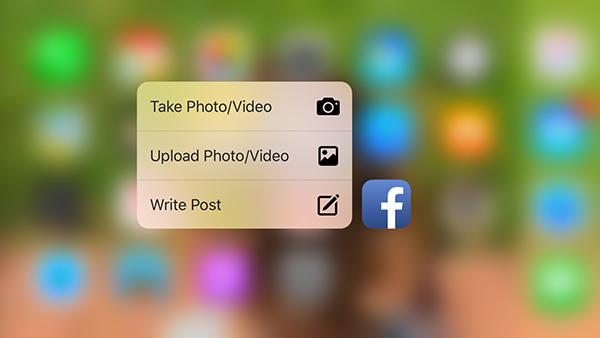 iOS Facebook, 3D Touch desteği kazandı