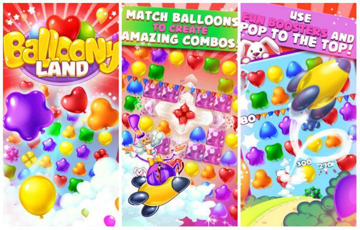 Balloony Land renk eşlemeye balonlu bir yorum katıyor
