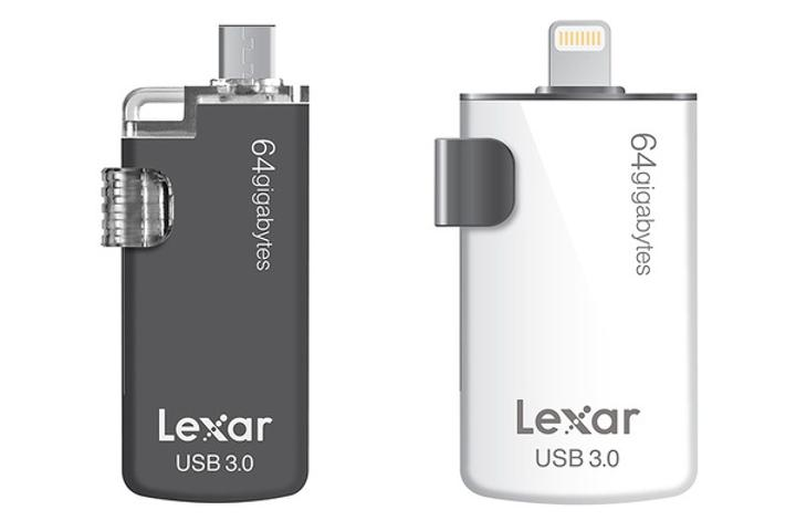 Lexar'dan USB Type-C ve Lightning girişlerine sahip yeni USB bellekler