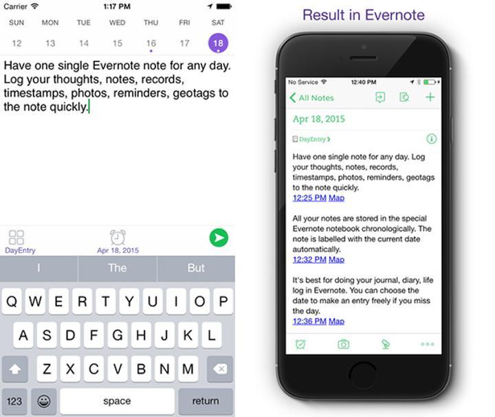 iOS uyumlu günlük uygulaması DayEntry artık ücretsiz