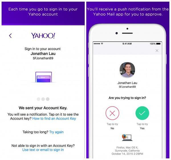 Yahoo Mail toplu bir değişim geçirdi, şifresiz giriş desteği geldi