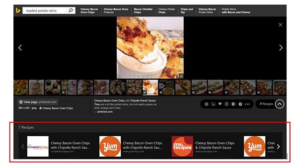 Microsoft Bing'i yemek kitabı haline getirdi