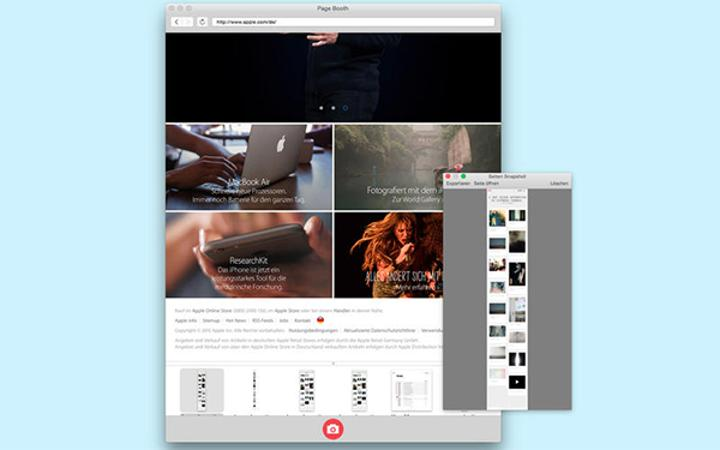 Tam sayfa ekran görüntü uygulaması Page Booth artık ücretsiz