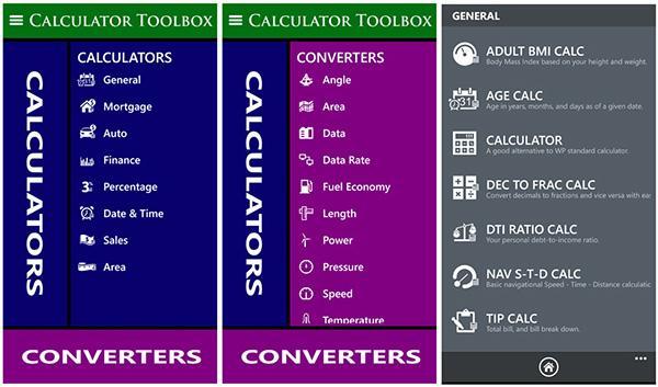 Windows Phone için Calculator Toolbox'un arayüzü yenilendi