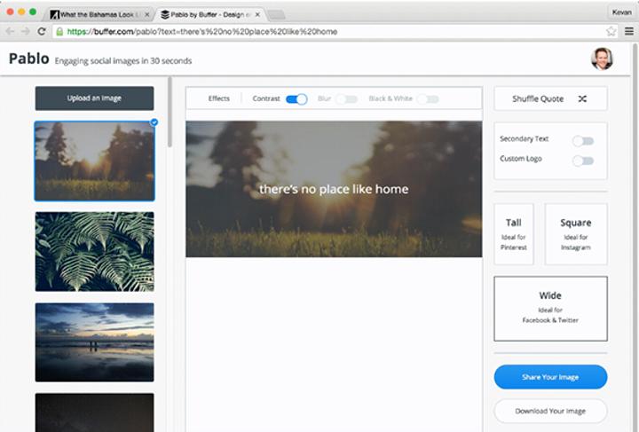 Buffer, web uygulaması Pablo'nun 2.0 sürümünü kullanıcıların beğenisine sundu