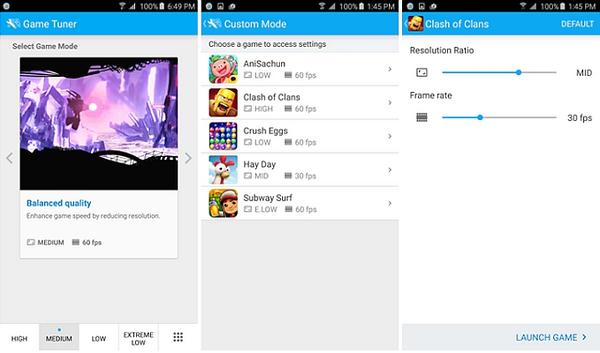 Samsung cihazları oyunlarda performansı ayarlayabilecek