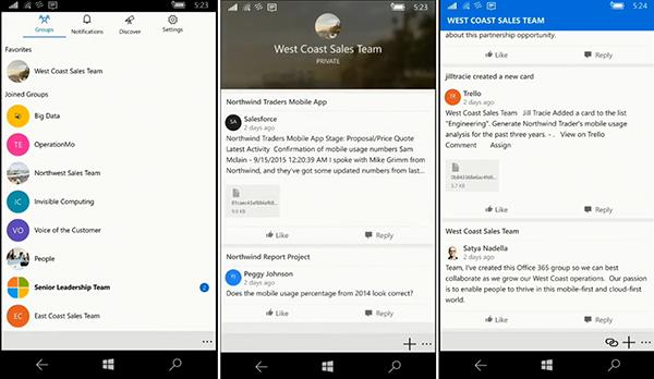 Windows cihazlar için Outlook Groups güncellendi