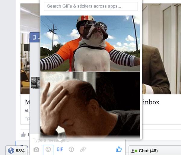 Facebook, mesaj pencereleri için GIF ve eklenti butonlarını test ediyor