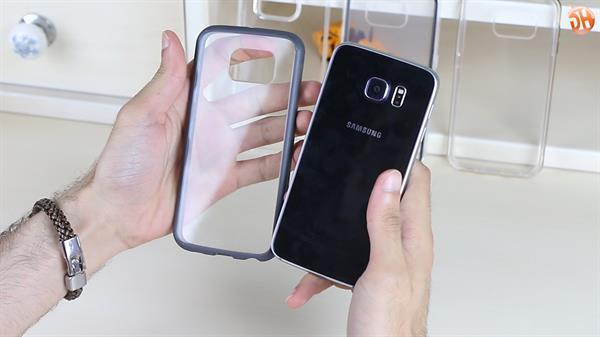 Samsung Galaxy S6 için tasarımı örtmeyen kaplar