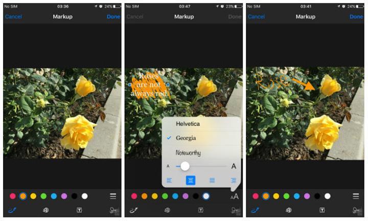 iOS 9 ile mail fotoğraf eklentileri üzerinde düzenleme yapmak kolaylaşıyor