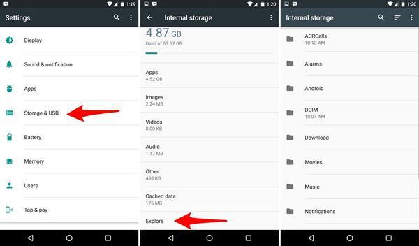 Android 6.0 Marshmallow sürümünde Dosya Yöneticisi'ne nasıl erişilir?
