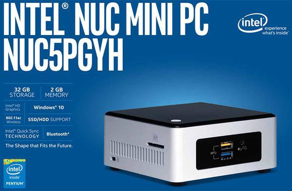Intel NUC artık dolu dolu