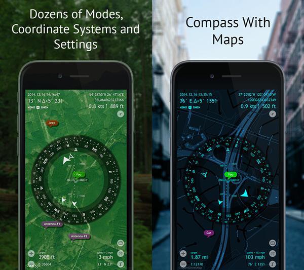 Gelişmiş pusula uygulaması Commander Compass ücretsiz yapıldı
