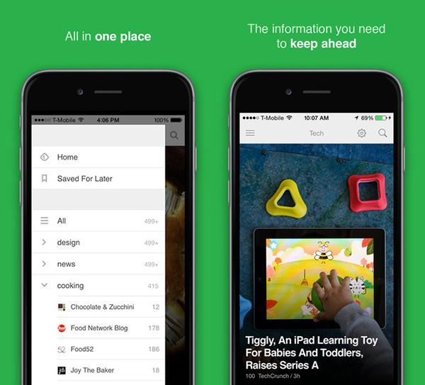 Feedly'nin iOS uygulaması geniş çaplı bir güncelleme geçirdi