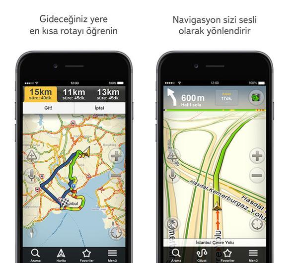 iOS ve Android için Yandex.Navigasyon'a önemli özellik