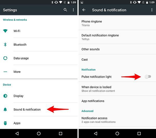 Nexus 5X ve Nexus 6P'de bildirim ışığı nasıl açılır ?