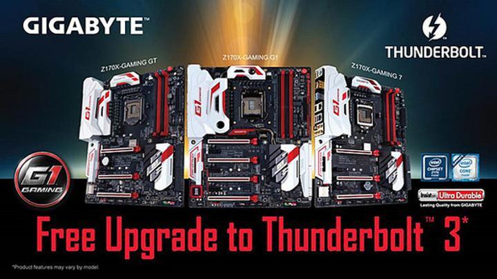 Gigabyte anakartlarına Thunderbolt 3 hızı geliyor
