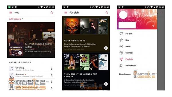 Android için Apple Music'in ilk görüntüleri sızdırıldı