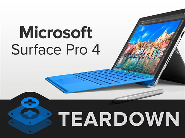 Microsoft Surface Pro 4 parçalarına ayrıldı