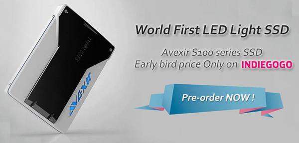 Avexir dünyanın ilk LED aydınlatmalı SSD ürünü için destek bekliyor