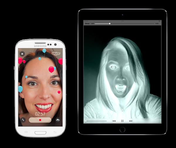 Skype'a'video mesajlar için filtre desteği geldi