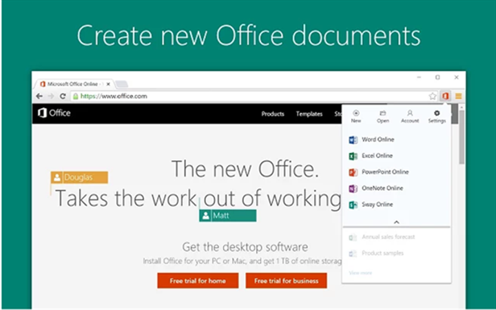 Microsoft, yeni Chrome eklentisi Office Online'yı yayınladı