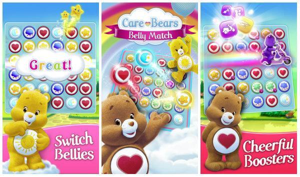 Renk eşlemeye Care Bears eğlencesi