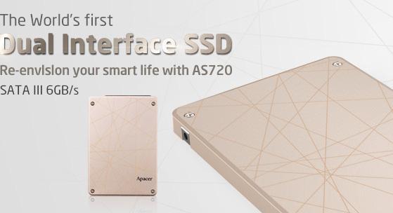 Apacer'dan ilk çift bağlantı girişli harici SSD sürücü