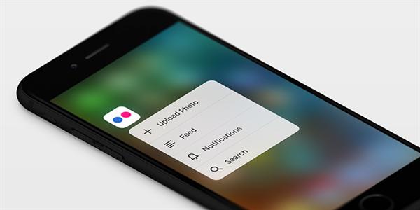 Flickr'ın iOS sürümüne 3D Touch desteği