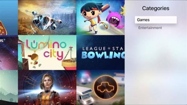 Apple TV uygulama mağazasına kategoriler bölümü eklendi