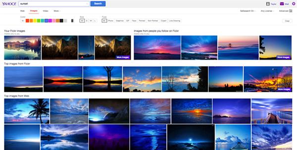 Yahoo, görsel arama sonuçlarına Flickr'ı dahil etti