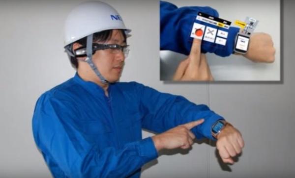 NEC'in yeni projesi kolunuzu klavye haline dönüştürüyor