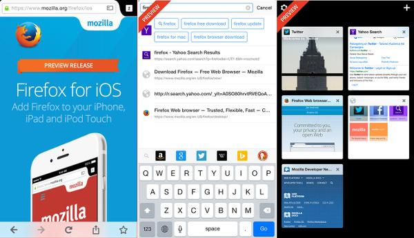 iOS için Firefox artık evrensel