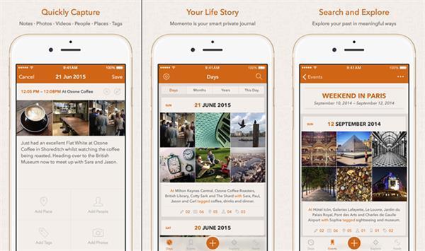 iOS uyumlu yeni uygulama: Momento