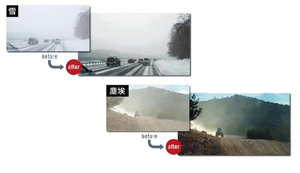 Yeni teknolojiyle videolardan kar, toz ve sis kaldırılabiliyor