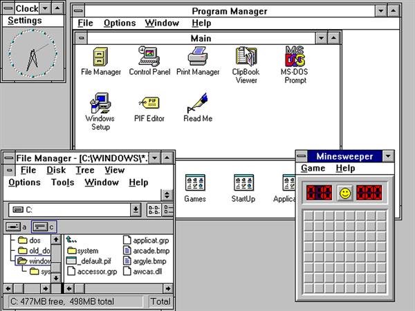 İlk sürümden itibaren Windows'un evrimi